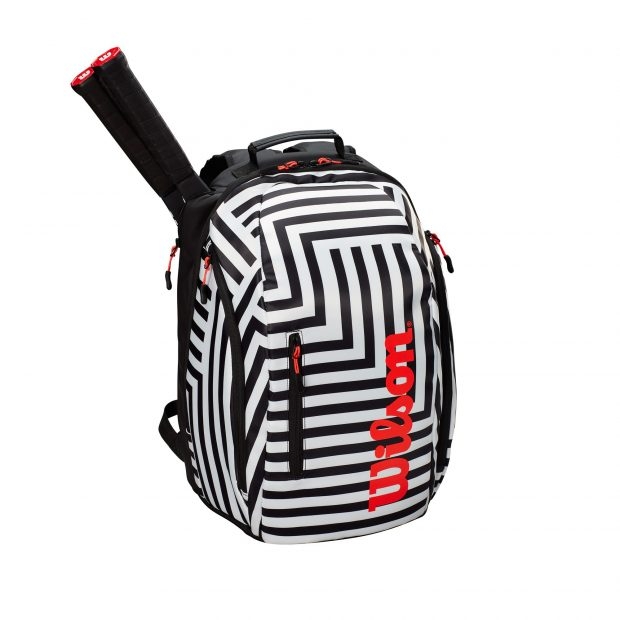 WR8001601001_Super_Tour_Backpack_Bold_BK_WH_Front_wRackets